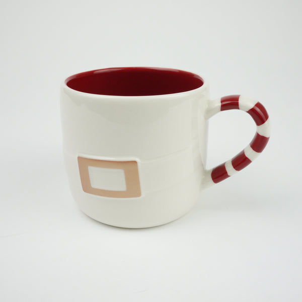 Starbucks Christmas Japan 2014 Mug Cup Santa Claus Belt x Candy Cane Xmas 270ml