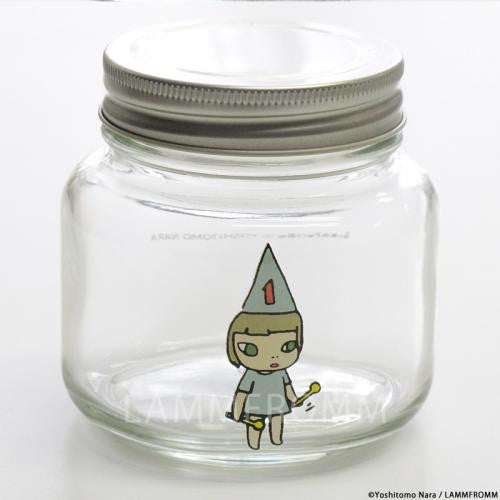 Yoshitomo Nara Glass Storage Jar S Girl 1 Blue Japan Art