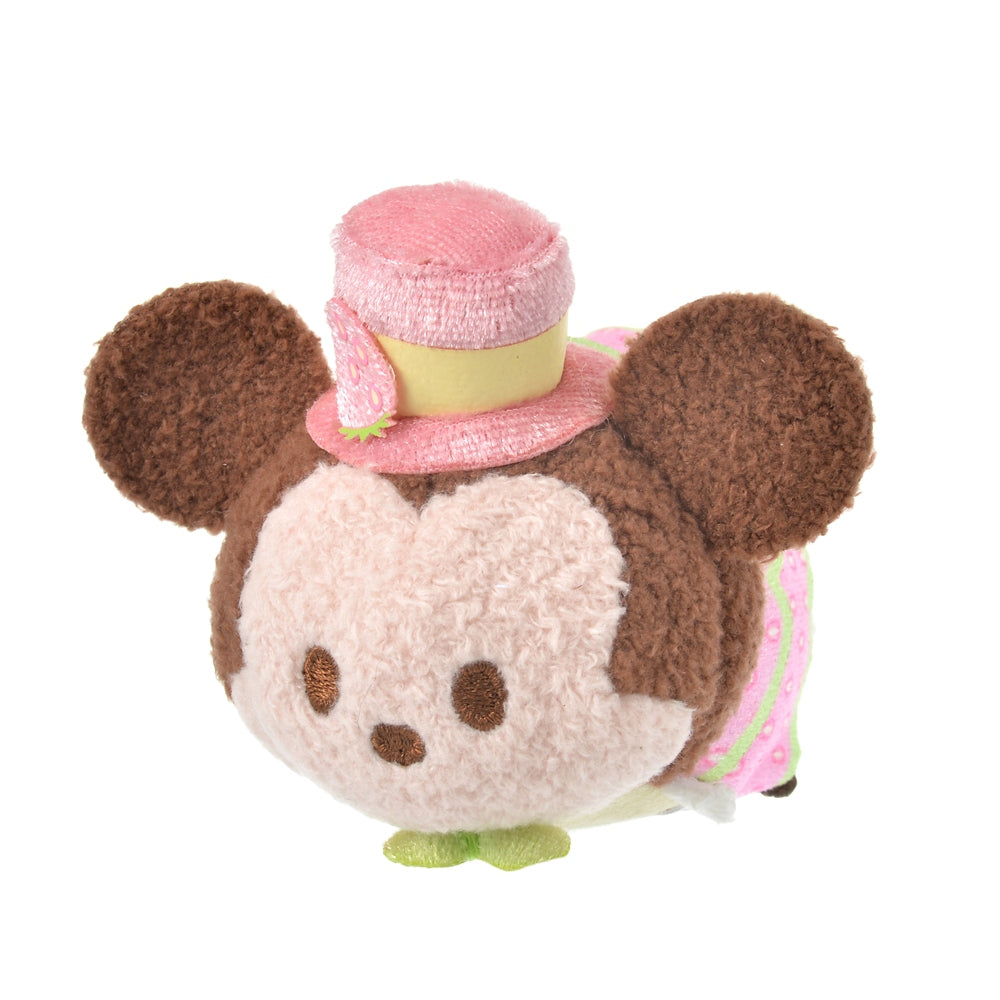 Mickey Tsum Tsum Plush Doll mini S Strawberry Ichigo 2021 Disney Store Japan