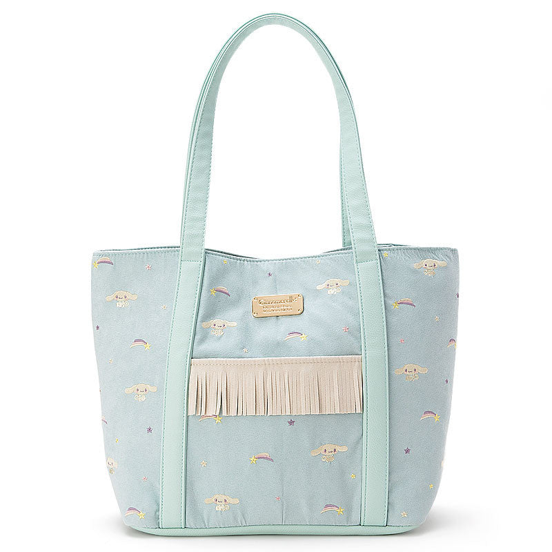 Cinnamoroll Tote Bag Blue Rainbow Embroidery Sanrio Japan