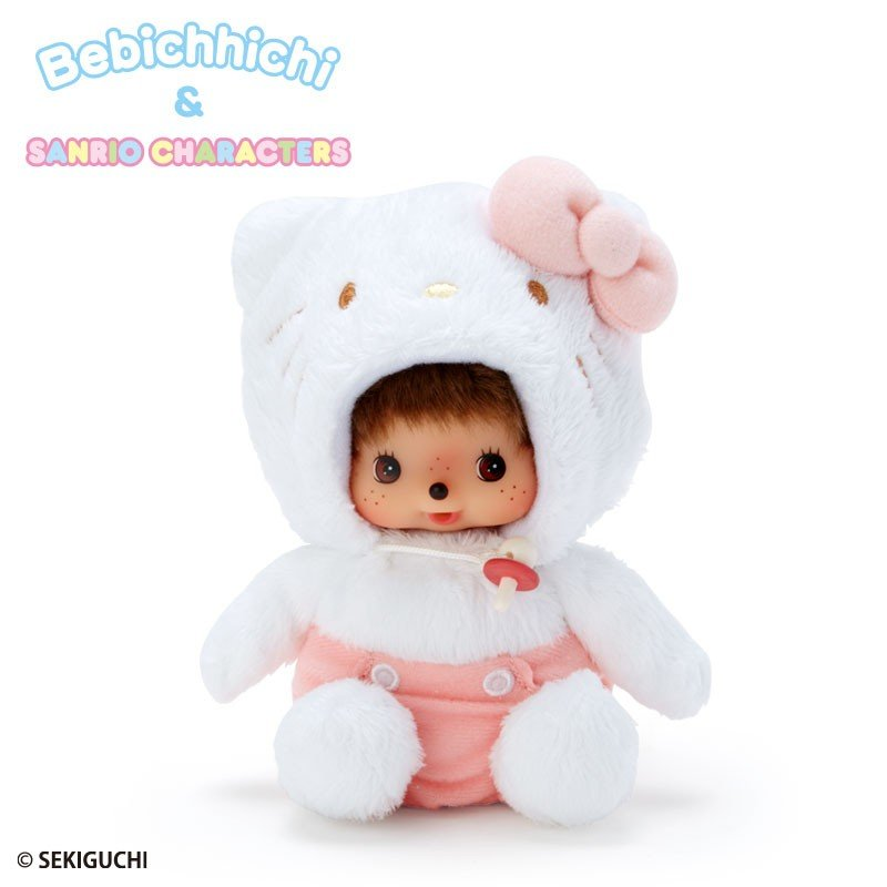 Hello Kitty X Bebichhichi Plush Doll Monchhichi Sanrio Japan 2019