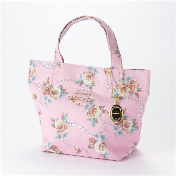 Tote Bag S Rose & Pearl Pink Laduree Japan