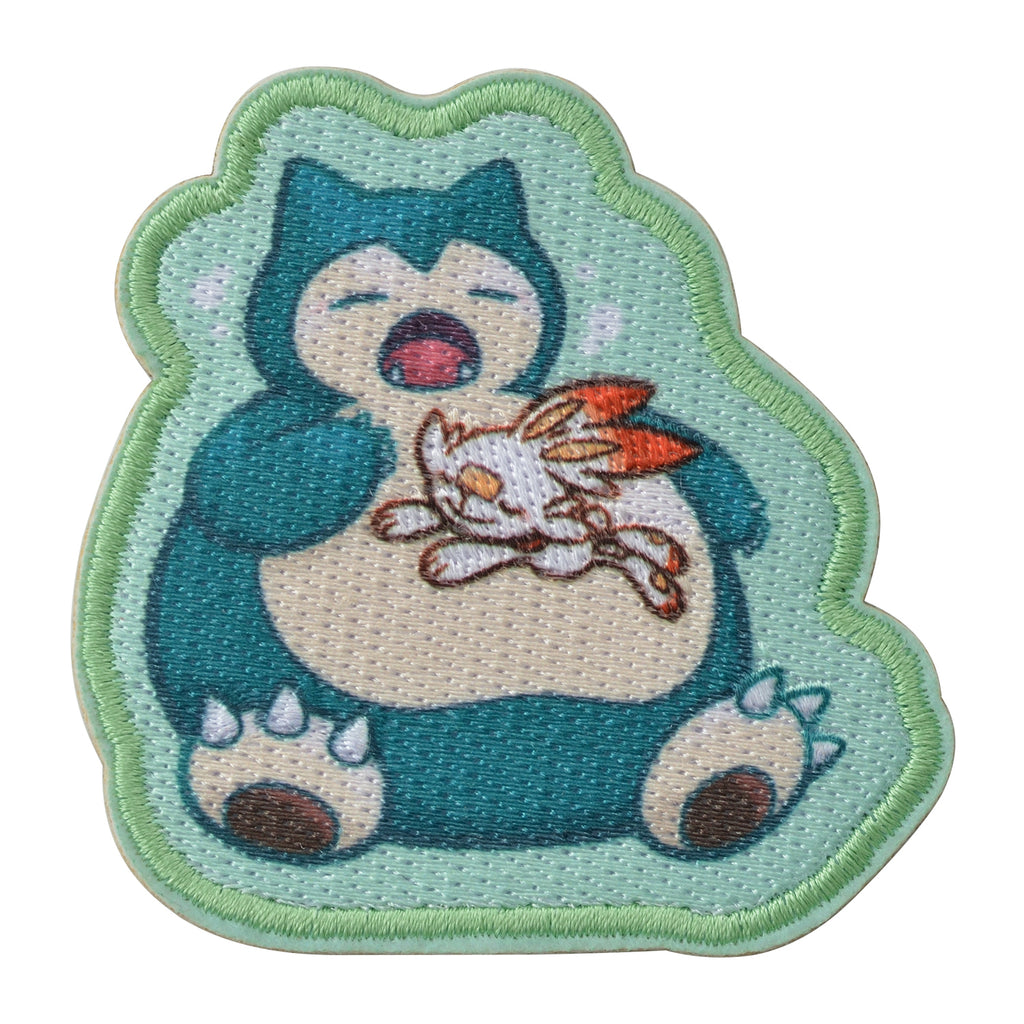 Scorbunny Hibanny & Snorlax Kabigon Emblem Sticker Yawn Pokemon Center Japan
