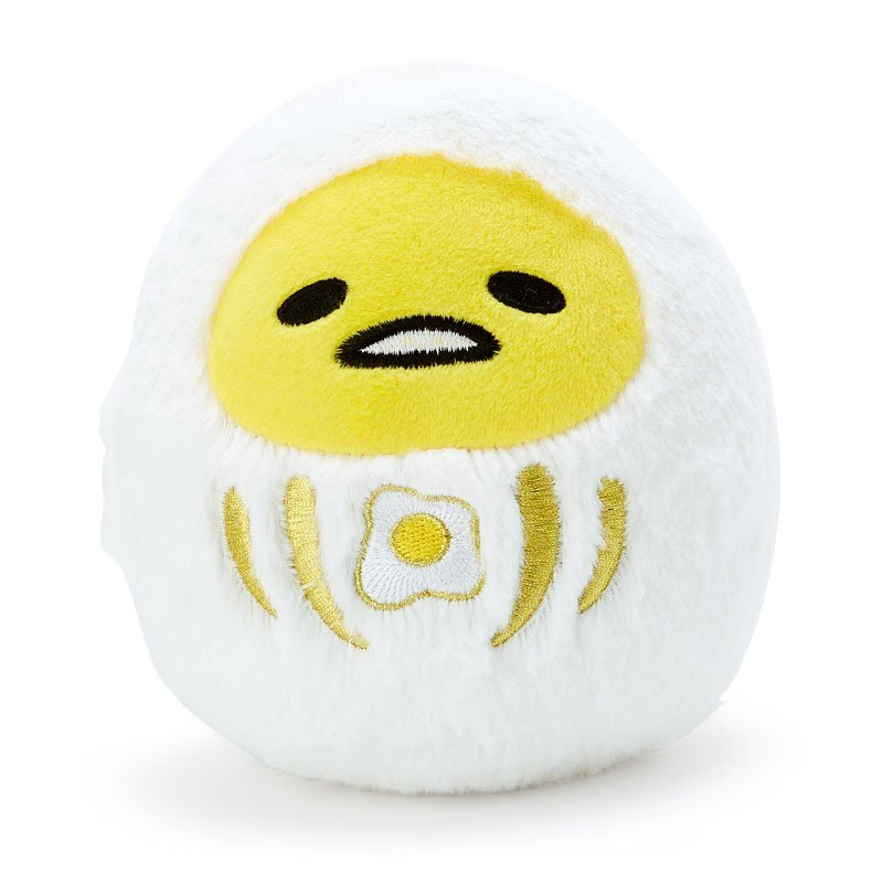 Gudetama Egg Plush Doll Daruma Fluffy Sanrio Japan 2019