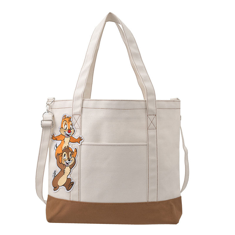 Chip & Dale 2WAY BIG TOTE Shoulder Bag Die-Cut Disney Store Japan