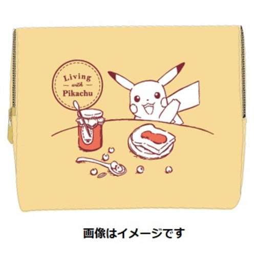 Pouch Yellow Living with PIKACHU Pokemon Center Japan Original