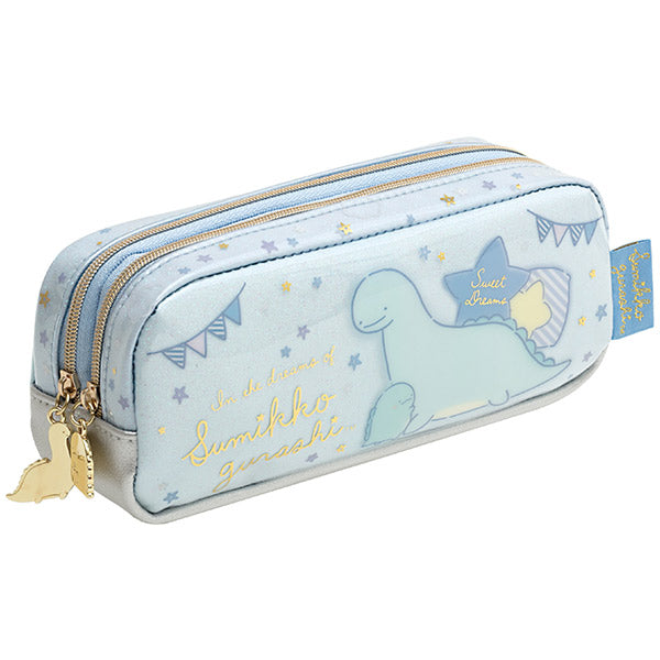 Sumikko Gurashi Tokage Lizard Twin Zipper Pen Case Pouch Dream San-X Japan