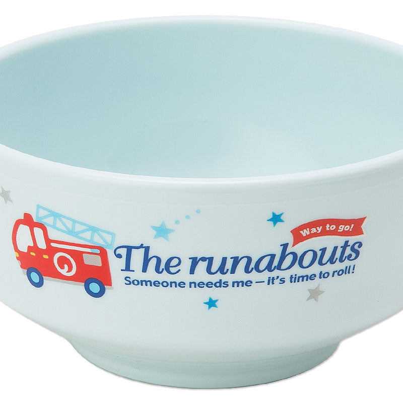 The Runabouts Baby Kids Bowl Blue Logo Sanrio Japan