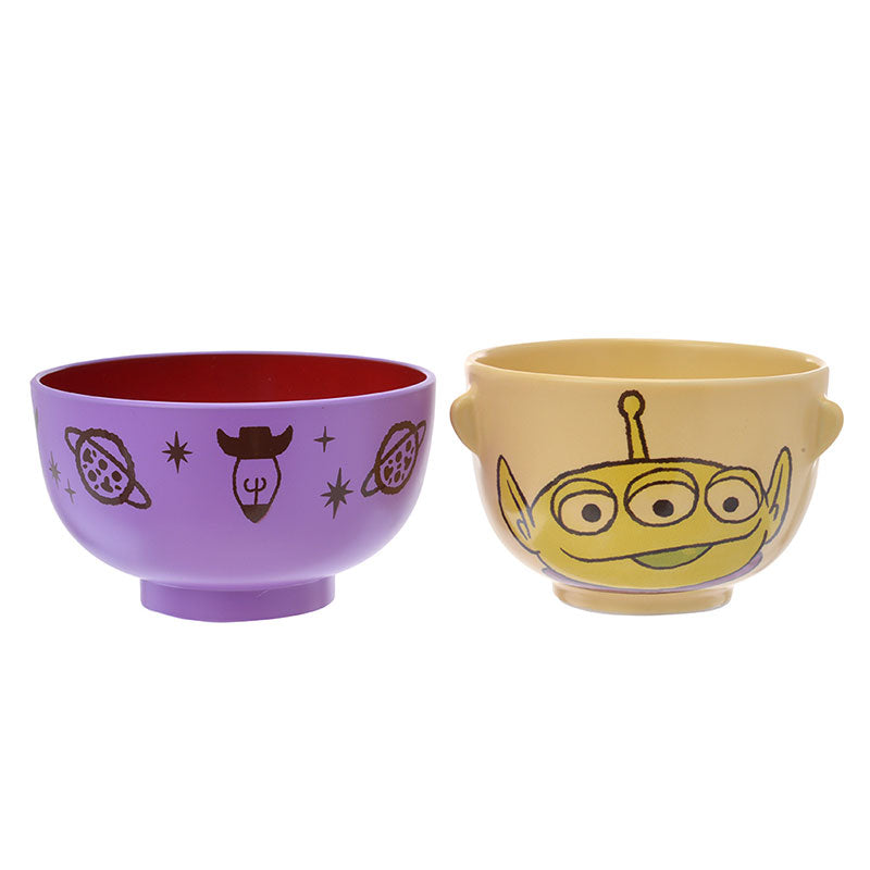Toy Story Alien Bowl Set Crayon touch Disney Store Japan