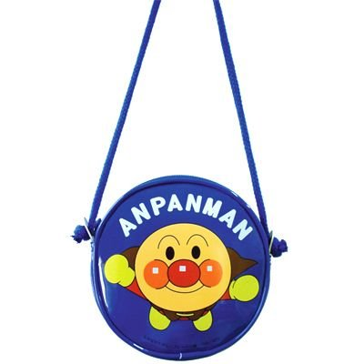 Anpanman Round Pochette Bag Blue Japan Kids ANA-1200