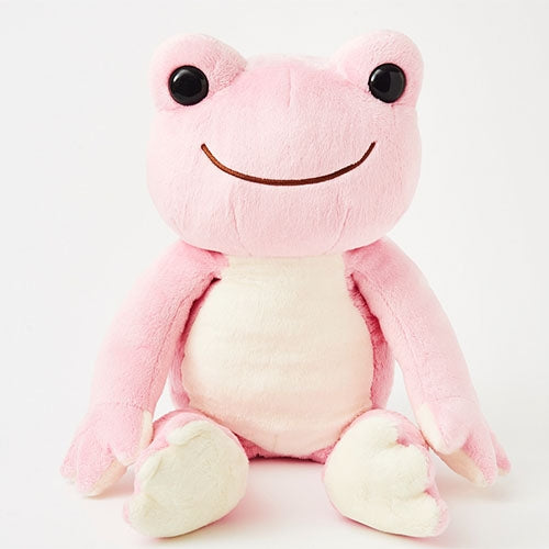 Pickles the Frog Plush Doll M Sakura Rainbow Color Japan