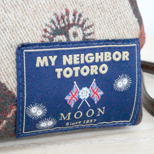 My Neighbor Totoro Wool Pouch Tradition MOON with Shoulder Studio Ghibli Japan