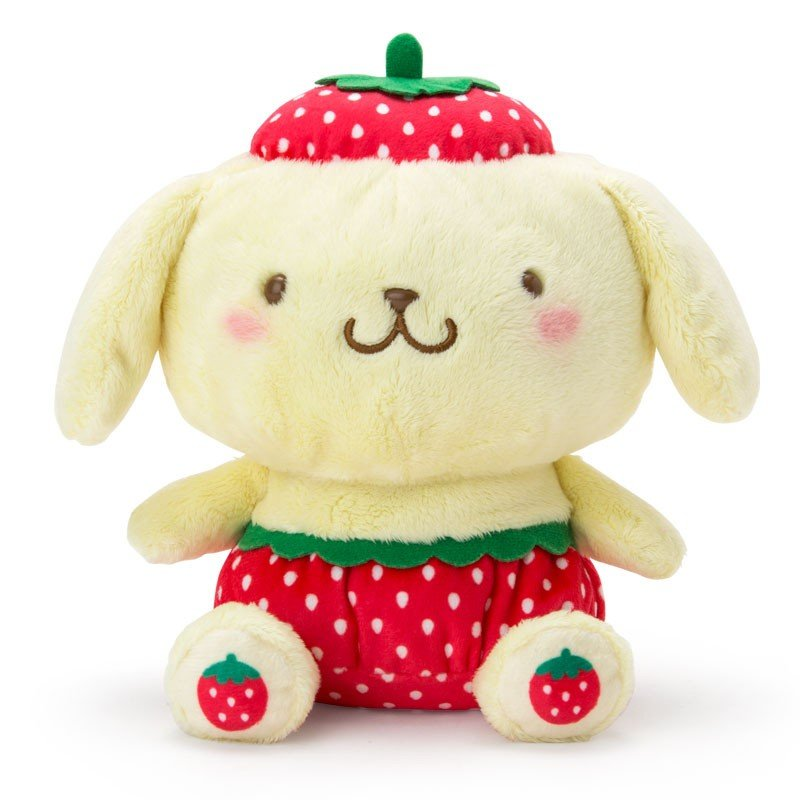 Pom Pom Purin Baby Plush Doll Strawberry Sanrio Japan