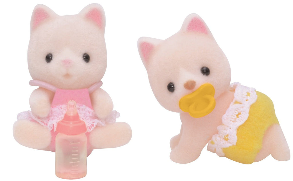Silk Cat Baby Twins Doll Ni-87 Sylvanian Families Japan Calico Critters