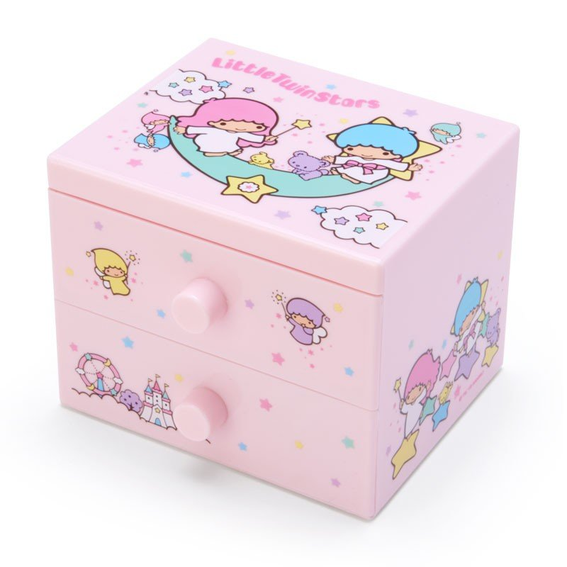 Little Twin Stars Kiki Lala mini Plastic Chest Sanrio Japan