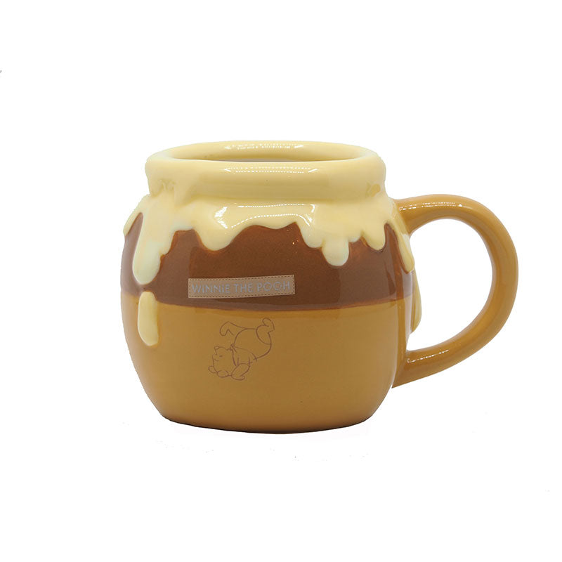 Winnie the Pooh Mug Cup Hunny Pot Brown Disney Store Japan