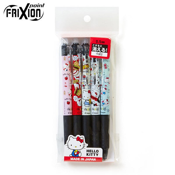 Hello Kitty Frixion Ball Knock Erasable Pen 5 Designs Set Sanrio Japan