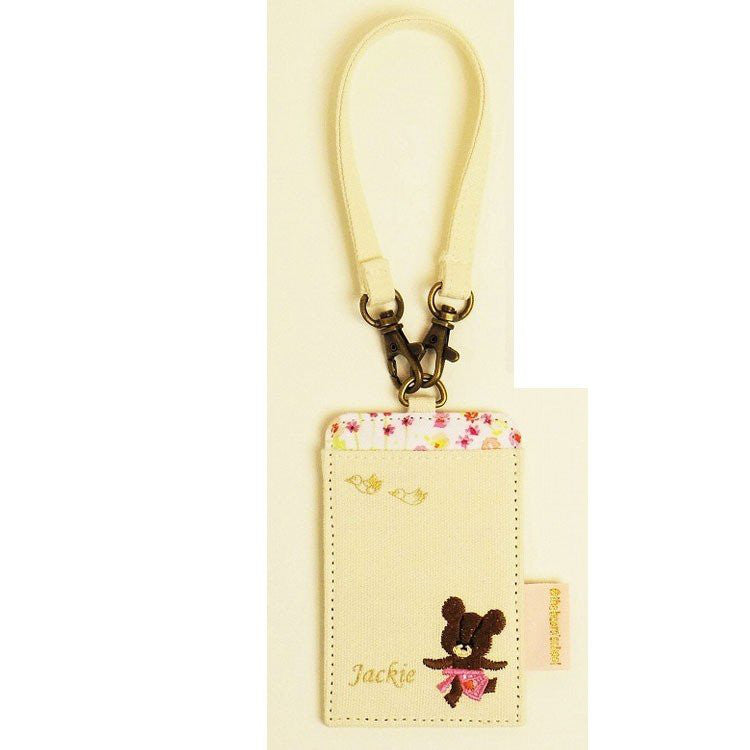 Jackie Pass Case Flower the bears' school Japan