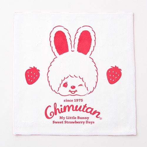 Chimutan Towel Handkerchief Strawberry Strip Monchhichi Japan 2019