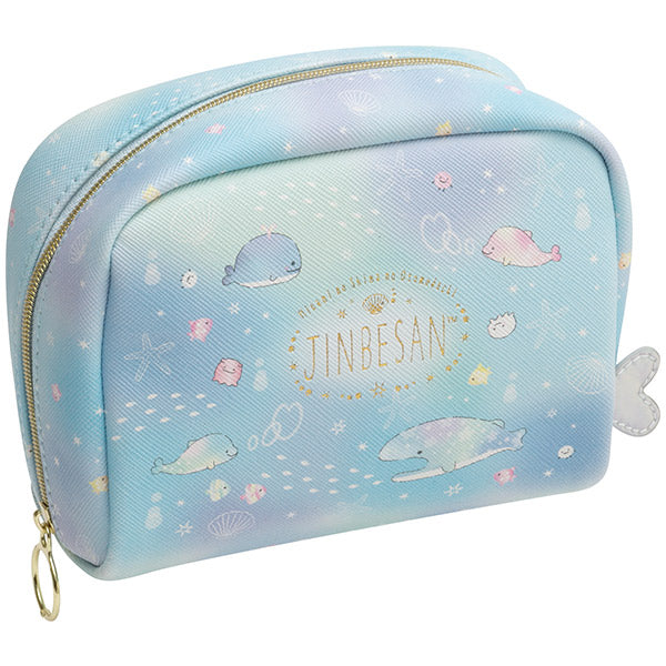 Jinbe San Pouch with Pearl Color Dolphin San-X Japan