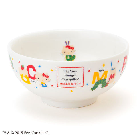 Hello Kitty The Very Hungry Caterpillar Bowl Kids logo Sanrio Made in Japan