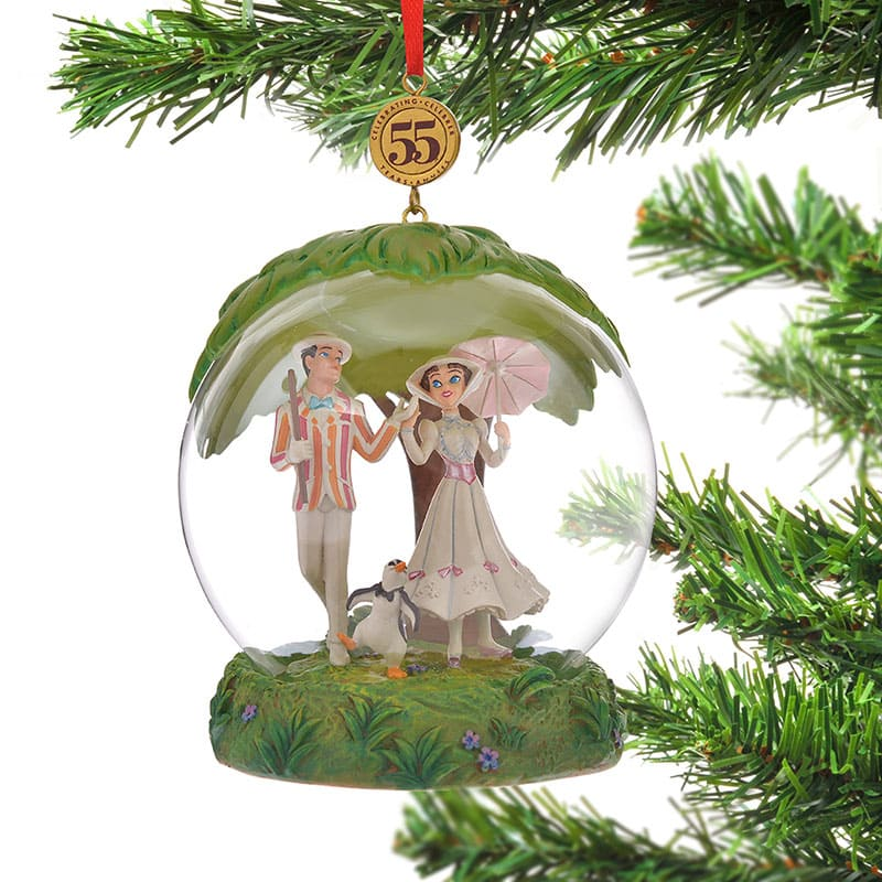 Mary Poppins & Bert Christmas Tree Ornament Legacy Disney Store Japan 2019