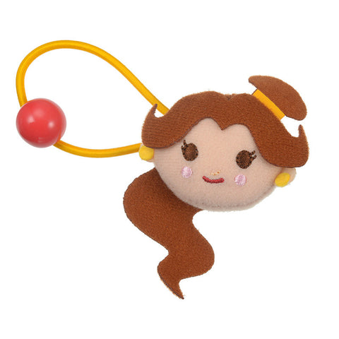 Belle Ponytail Holder Plush Deformed Disney Store Japan Hair Accessory