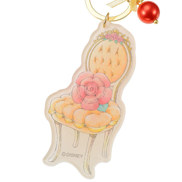 Belle Keychain Key Holder Mirror Chair Princess Party Disney Store Japan