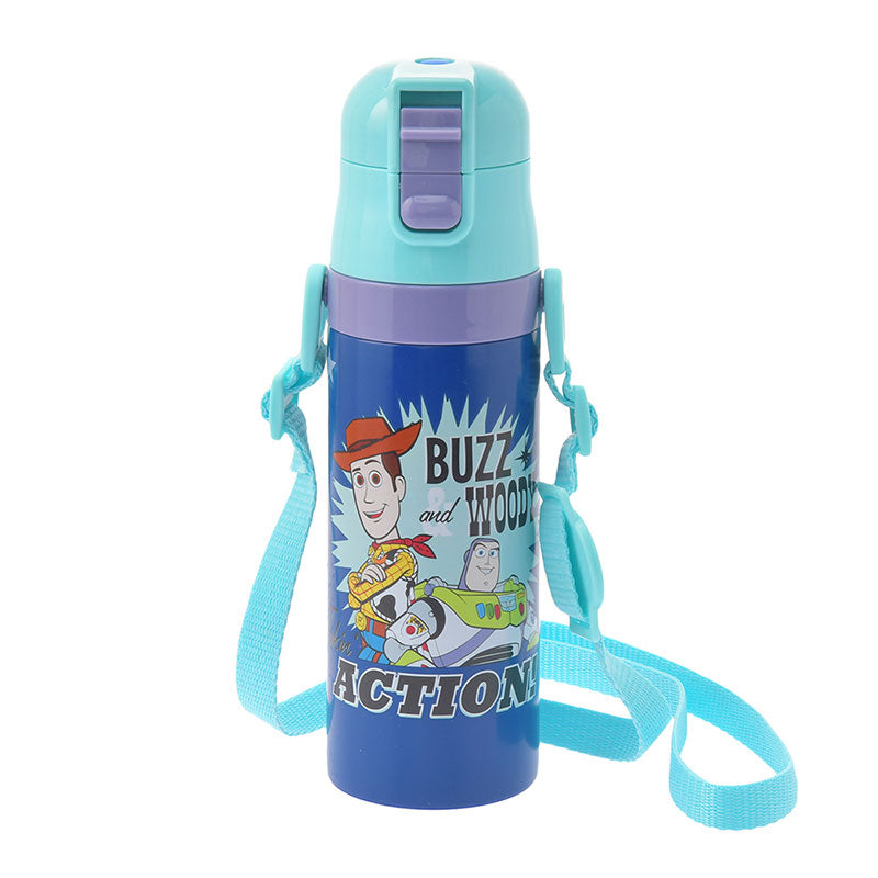 Toy Story Woody & Buzz Lightyear Stainless Bottle Logo Disney Store Japan