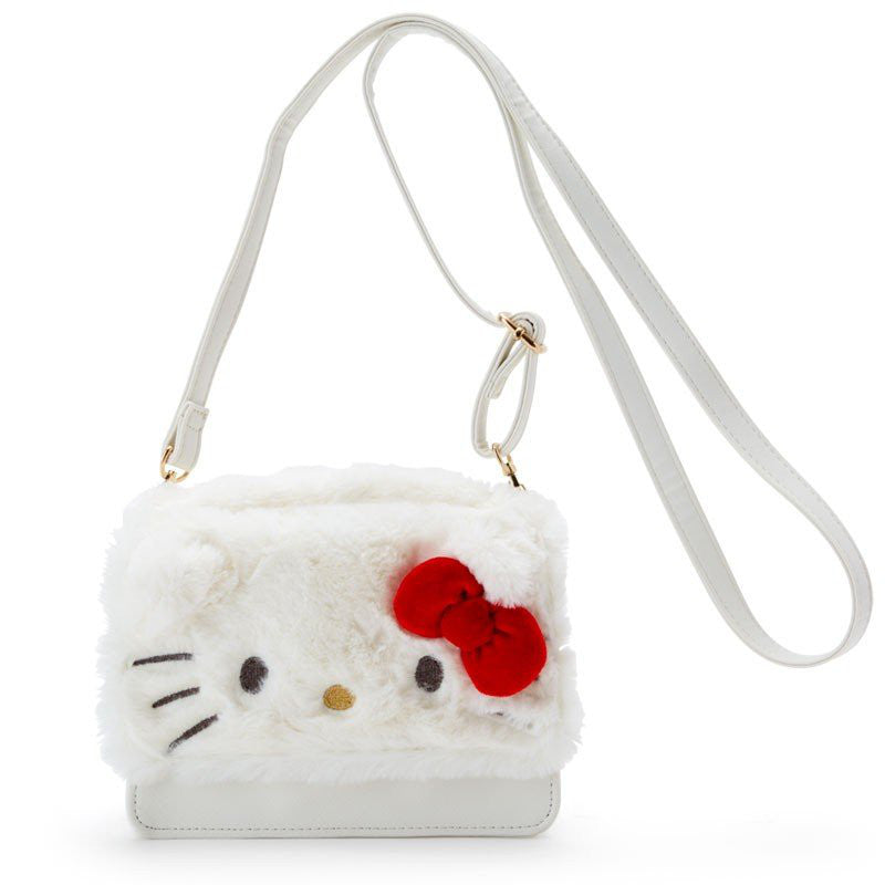 ea91bbc2c689 Hello Kitty Fur Shoulder Bag Sanrio Japan