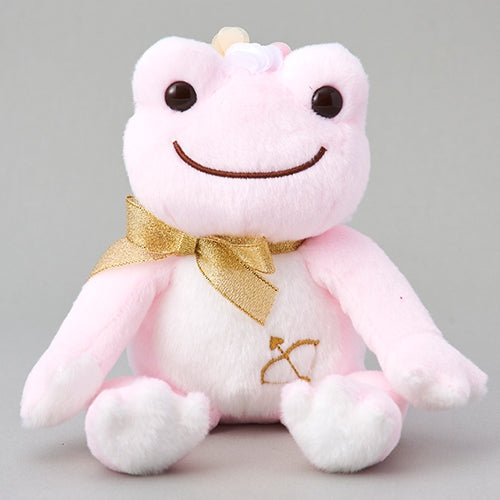 Pickles the Frog Bean Doll Plush Cupid Pink Japan