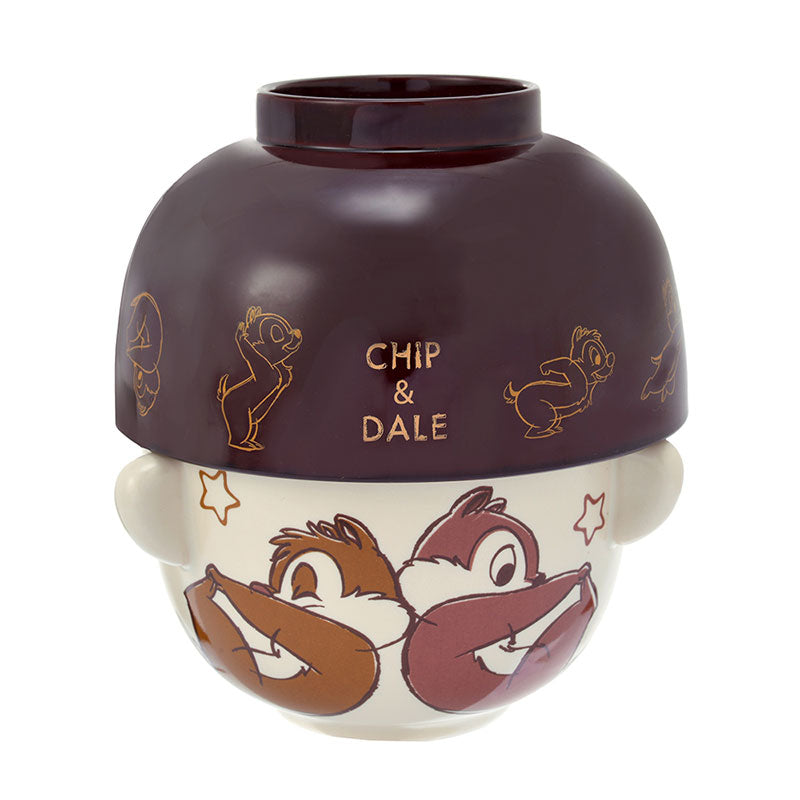 Chip & Dale Bowl Set Relax Disney Store Japan