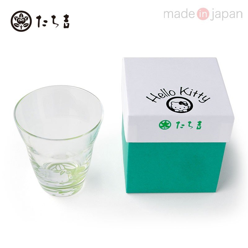 Hello Kitty Glass Cup Tachikichi Bamboo Sanrio Japan
