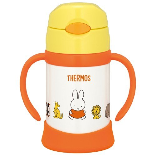 Miffy Stainless Training Straw Mug Cup 250ml FHI-250B-Y Yellow Japan Baby Kids
