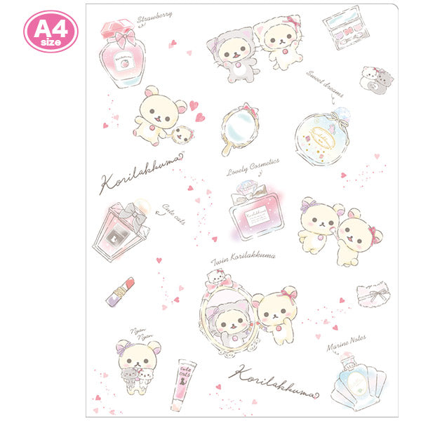 File Holder 10 pockets A4 Korilakkuma in the Mirror San-X Japan Rilakkuma