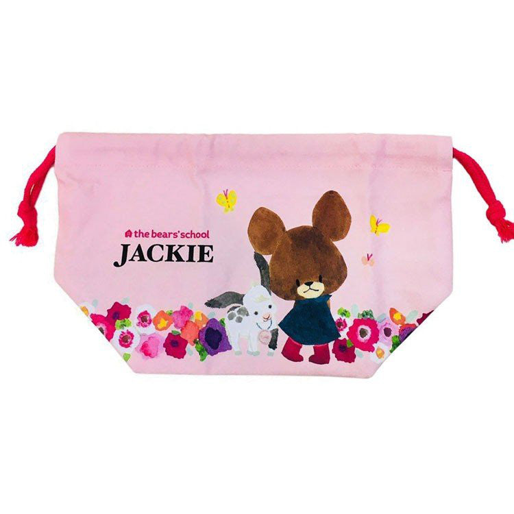 Jackie Drawstring Lunch Bag Pink the bears' school Japan