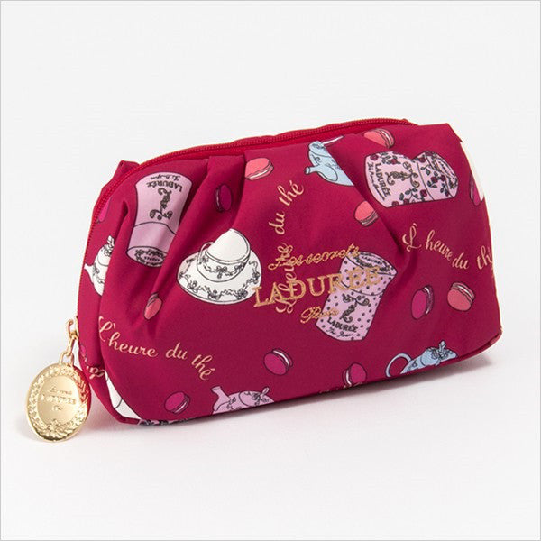 Gather Pouch Red Charms The Tea Time Laduree Japan