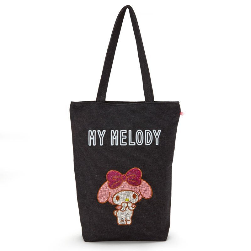 My Melody Denim Tote Bag Glitter Sanrio Japan