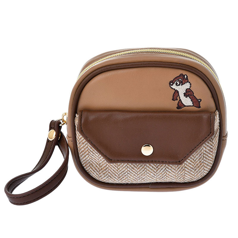 Chip & Dale Pouch Look Brown ACCOMMODE Disney Store Japan