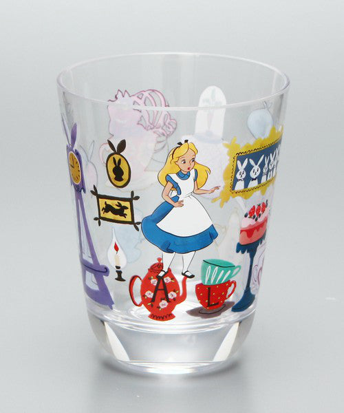 Alice in Wonderland Clear Cup Tumbler 270ml Afternoon Tea Japan Disney