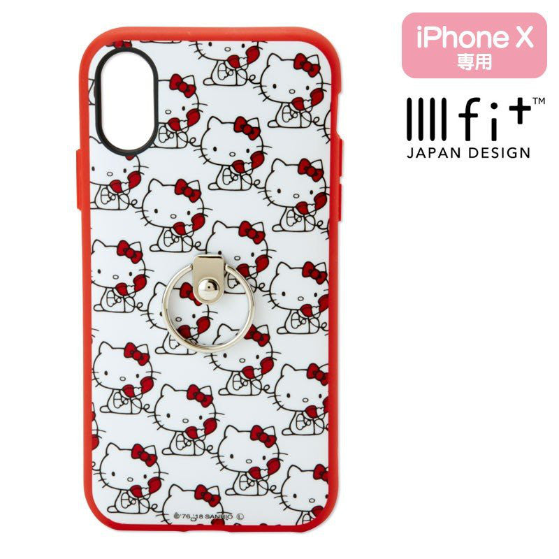 Hello Kitty iPhone X / XS Case Cover with Ring IIIIfi+ Sanrio Japan
