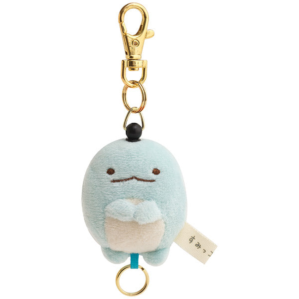 Sumikko Gurashi Tokage Lizard Reel Plush Keychain Key Holder San-X Japan