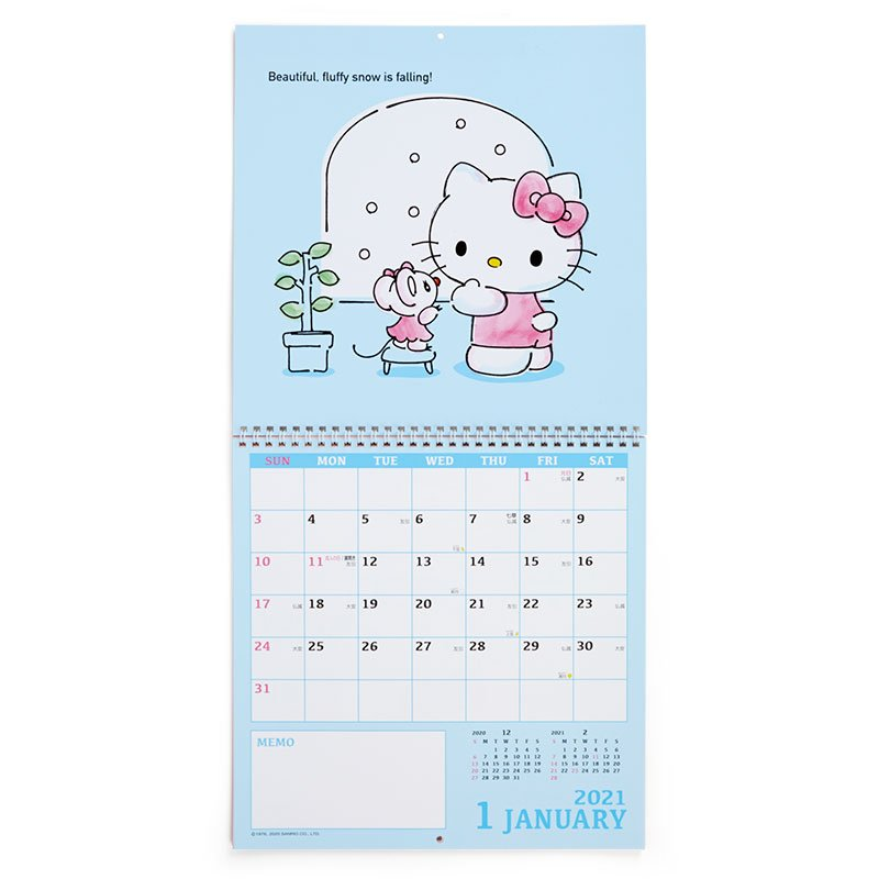 Hello Kitty Wall Calendar 2021 L Sanrio Japan
