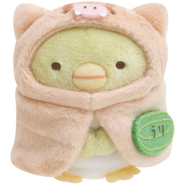 Sumikko Gurashi Penguin ? mini Plush Doll Baby Boar Pig San-X Japan New Year