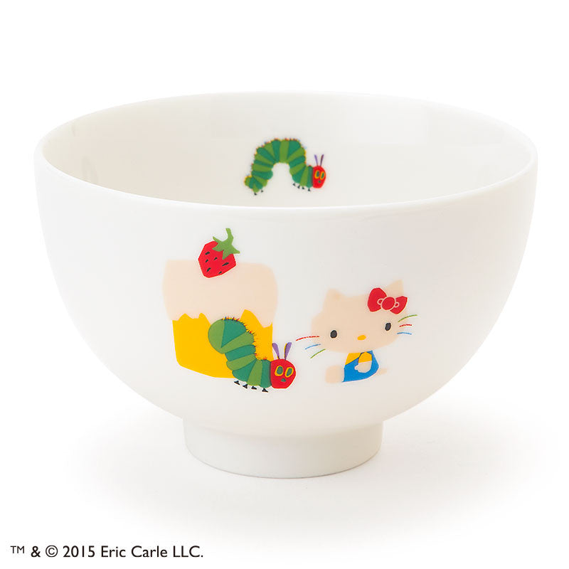 Hello Kitty The Very Hungry Caterpillar Bowl Adult logo Sanrio Made in Japan