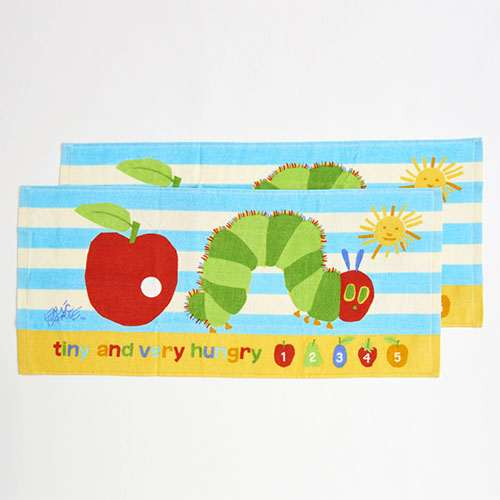 The Very Hungry Caterpillar Face Towel Big Apple 2pcs Japan 2019
