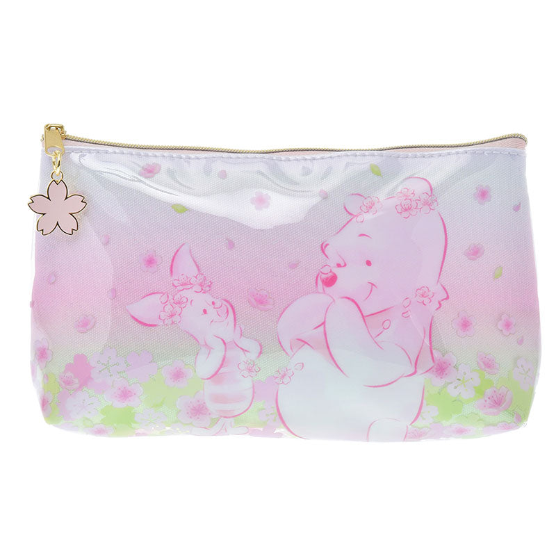 Winnie the Pooh & Piglet Pen Case Pencil Pouch Sakura 2020 Disney Store Japan