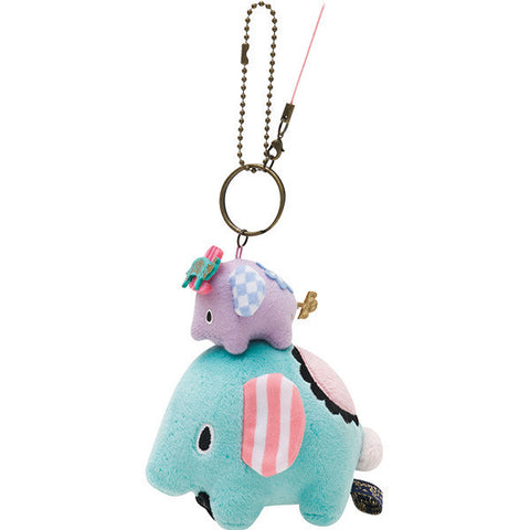 Sentimental Circus Elephants Plush Keychain Mouton Hometown San-X Japan