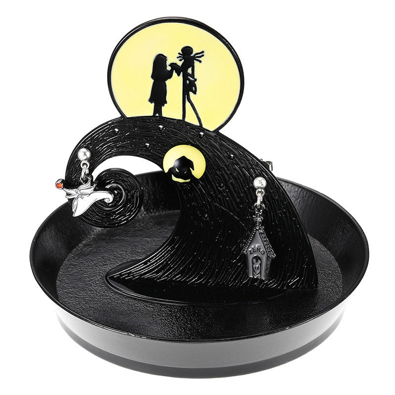 Piercing Earring w/ Jewelry Tray Nightmare Before Christmas 25th Disney Japan