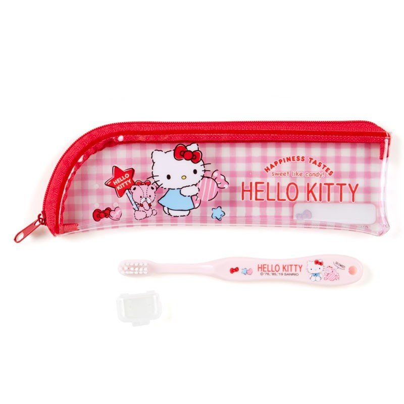 Hello Kitty Kids Toothbrush with Case Sanrio Japan